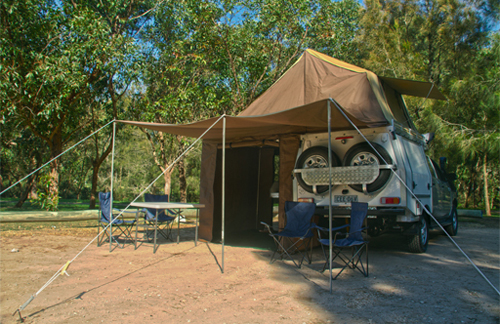 4wd toyota with fold out tent 2 5p totally campers